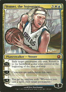 Venser the Sojourner Altered Art Magic Card Art by Poxy14