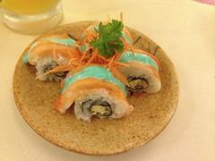 Blue mayo sushi