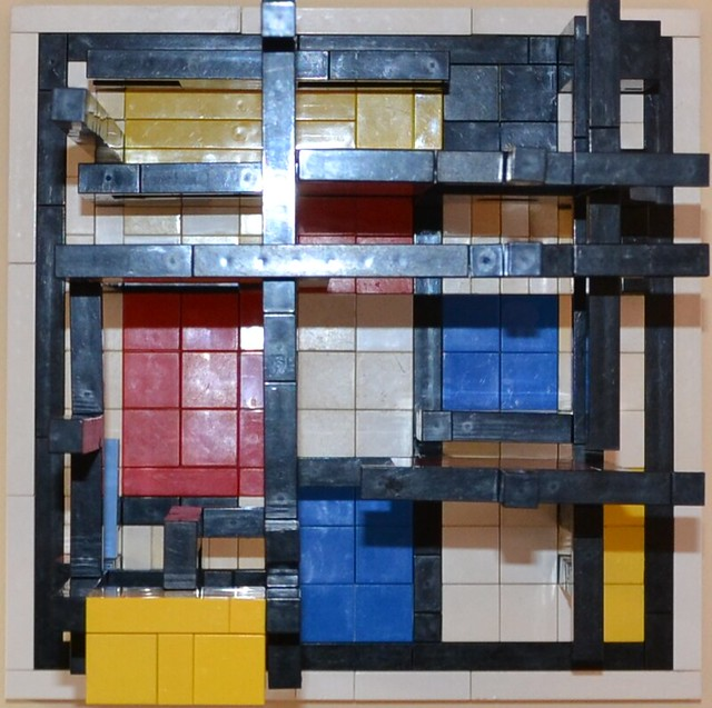 Mondrian's Cube: Top