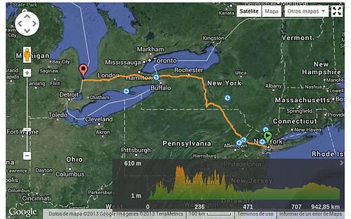 Planificación de ruta en bicicleta en Wikiloc. De Nueva York a Gran Teton