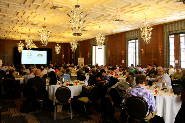 Ballroom Crowd at the US Ignite Application Summit at the Allegro Hotel, Chicago