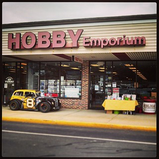 Come by Hobby Emporium and see the #8 #nelcar #uslegends today! #racecar #hobbyexpo #racing