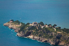 cape, sea, ocean, headland, bay, island, body of water, promontory, shore, aerial photography, coast, tower,