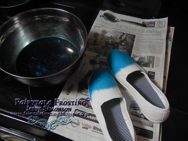 Pinterest Project: Dip Dyed Canvas Shoes