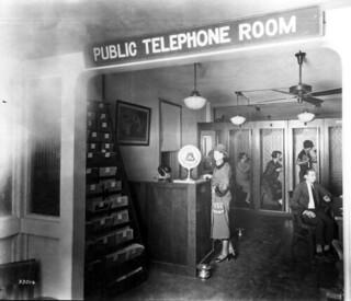 Southern Bell Telephone & Telegraph Company public telephone room: Miami, Florida