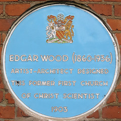 Photo of Edgar Wood blue plaque