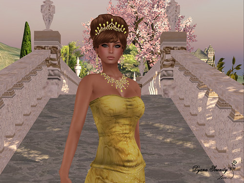 Paris METRO Couture: Golden Aussie Spring Corset Gown