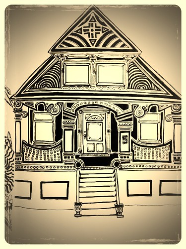 "Victorian Home (unfinished) collaboration? by Mike ""Dakinewavamon"" Kline"