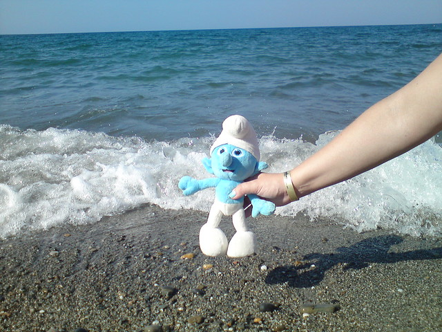 Смурфик на море // Smurf at the sea