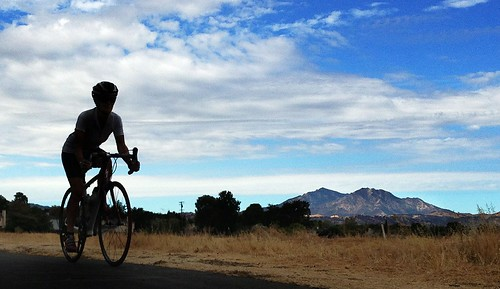 Ride with Tricia and clouds with Mt. Diablo (cropped)