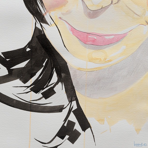 I'M FOR SALE (I), details 750 x 550mm watercolor, chinese ink on 300g/m² paper with greed.
