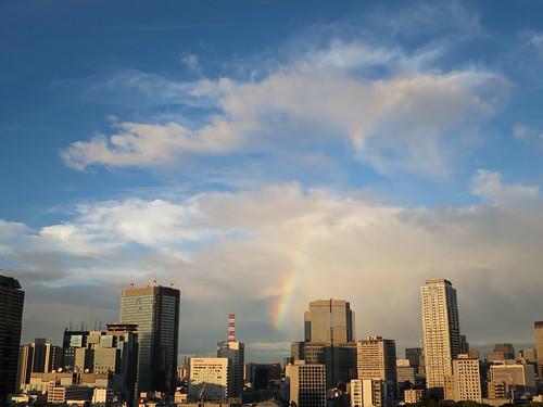 虹を見た@東京ミッドタウンタワー