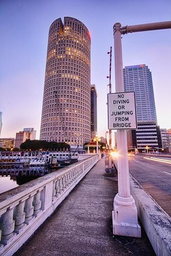 city bridge usa america sunrise tampa dawn cityscape florida canon60d