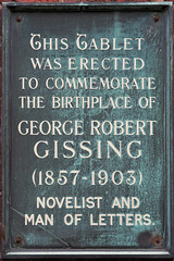 Photo of George Gissing plaque