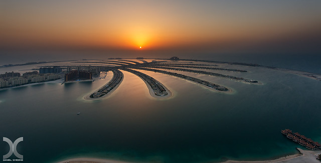 Sunset on Palm Jumeirah