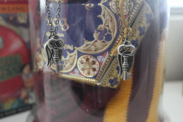Harry Potter inspired Winged Key Necklac