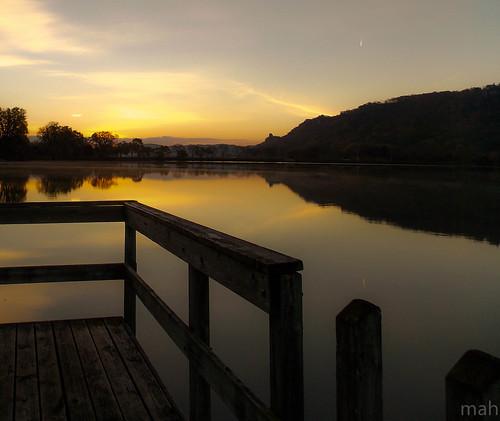 morning sky lake water minnesota sunrise landscape dawn midwest scenery scenic winona daybreak
