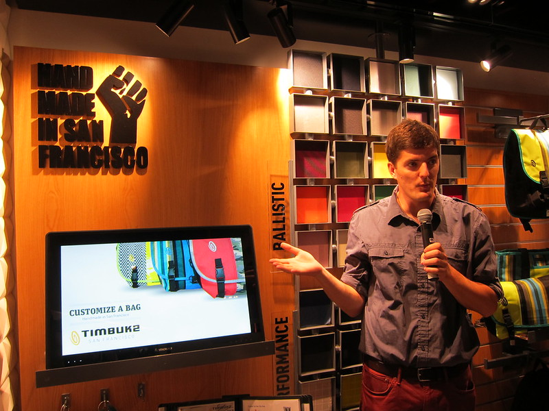 Timbuk2 Singapore Store - Dan McGivern, Senior Sales Support Giving A Walkthrough On How To Customize Your Bag