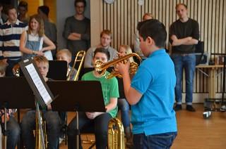 Lilla Brassbandfestivalen 2013 - Alexis Leon, Åsenhöga i solisttävlingen (foto: Olof Forsberg)