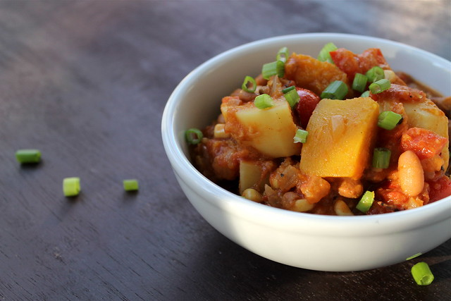 vegetarian & vegan Pumpkin Chili