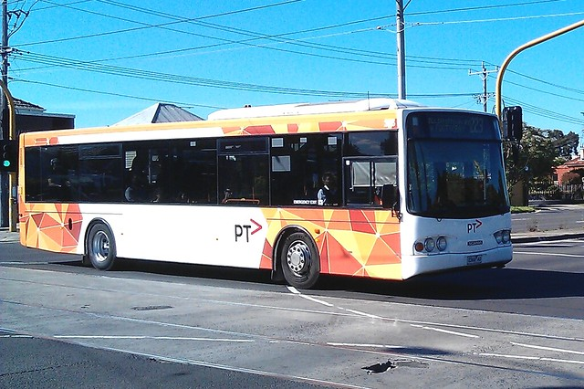 Transdev Melbourne bus in full PTV colours