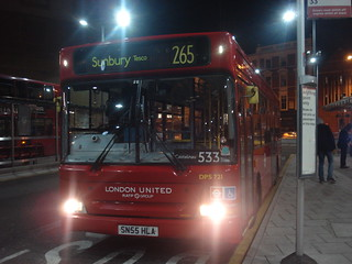 London United DPS721 on Route 533, Hammersmith Bus Station
