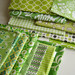 Quilty Fun Green Fabrics by Marci Girl Designs