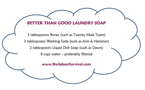 BETTER THAN GOOD LAUNDRY SOAP