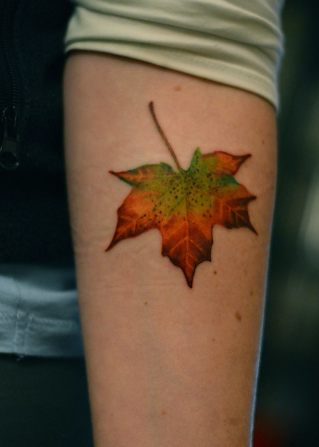 Changing Maple Leaf Tattoo Flickr Photo Sharing
