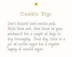 Vanilla Pod Cook's Tip