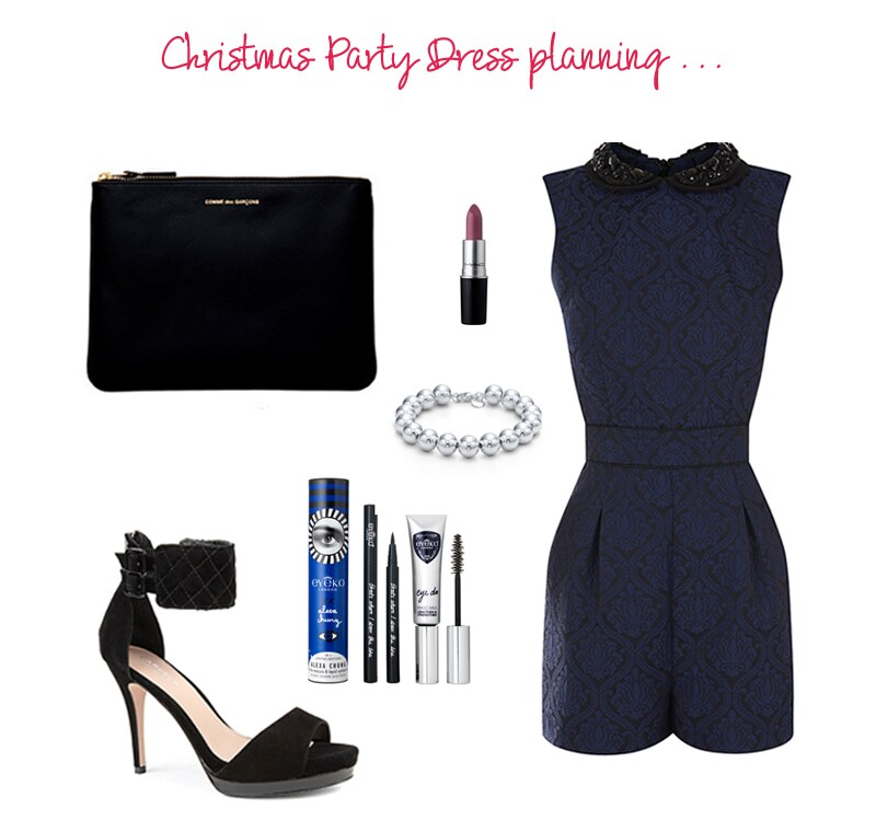 Christmas-party-outfit-warehouse-beaded-collar-playsuit