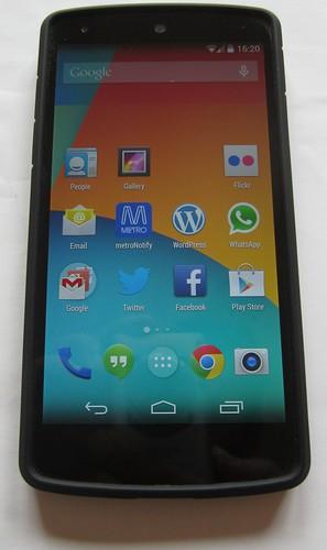 Nexus 5 phone in case