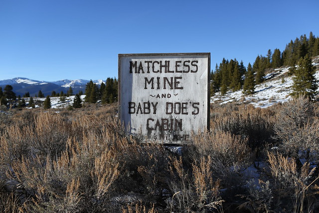 Matchless Mine sign from Flickr via Wylio