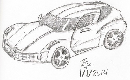 Stingray Concept (1st 2014 sketch!) by KMR_Studios