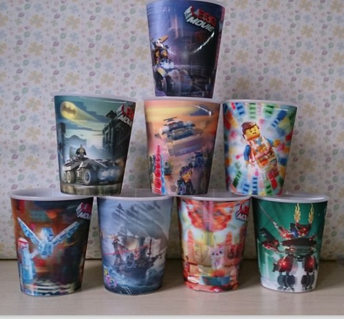The LEGO Movie Happy Meal Action Cups