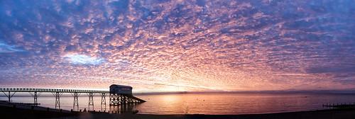 sea reflection beach clouds sunrise dawn coast westsussex coastal selsey rnli selseylifeboatstation