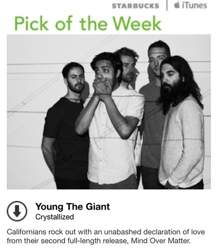 Starbucks iTunes Pick of the Week - Young the Giant - Crystallized