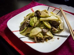 Chayote with Beef Flank Steak