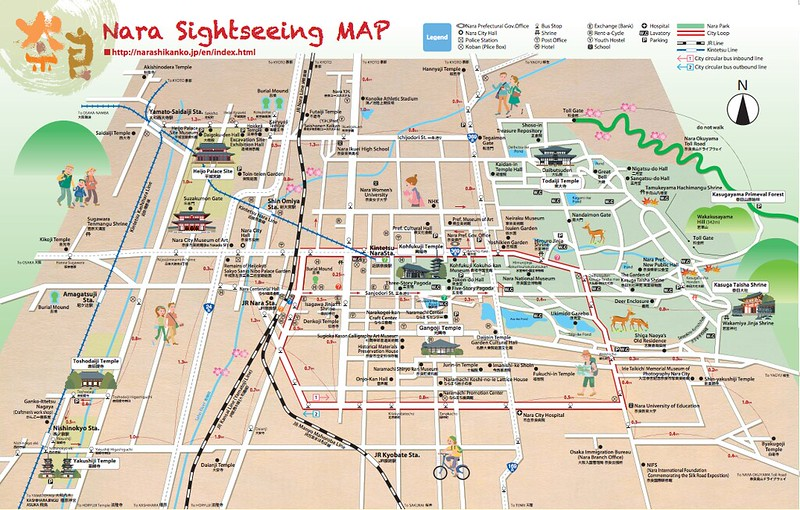 Nara Sightseeing Map