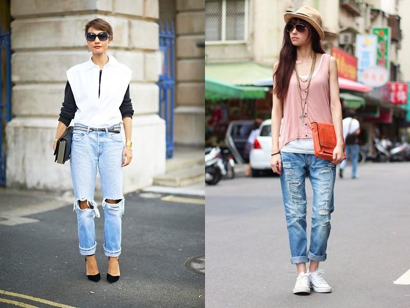 Outfits Vaqueros Rotos