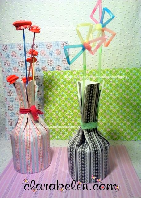 jarron papel o cartulina muy facil de hacer para manualidades con niños