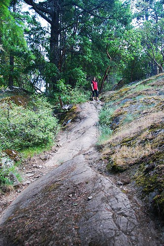 The Summit Trail in Mount Work Park, Highlands, Victoria, Vancouver Island, British Columbia, Canada