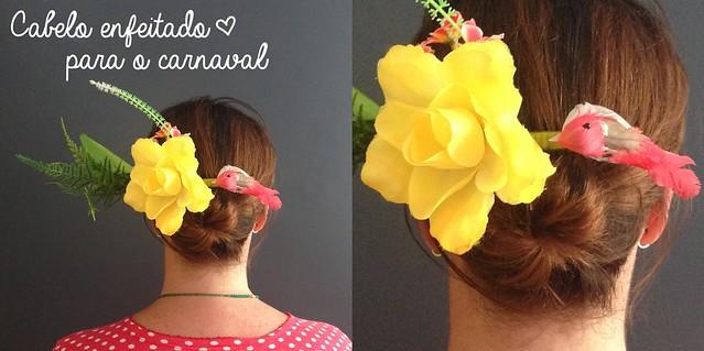 Carnaval: acessório de cabelo