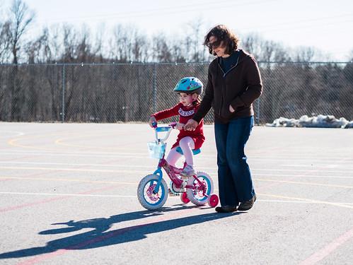 Her own bike