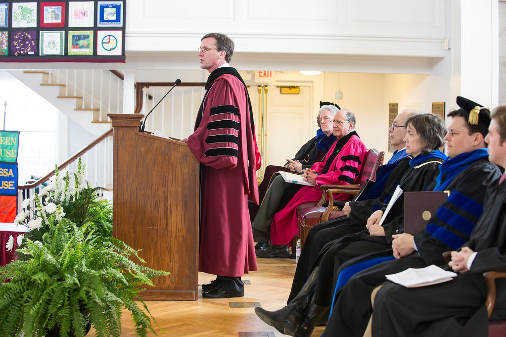 President Stephen C. Ainlay speaks at the annual Founders Day celebration.