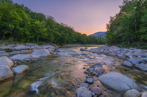 travel sunset motion water america river nikon rocks colorful unitedstates natural stones newhampshire whitemountains pemigewasset fresh tokina leslie taylor lincoln manfrotto 1116mm d7000 lestaylorphoto