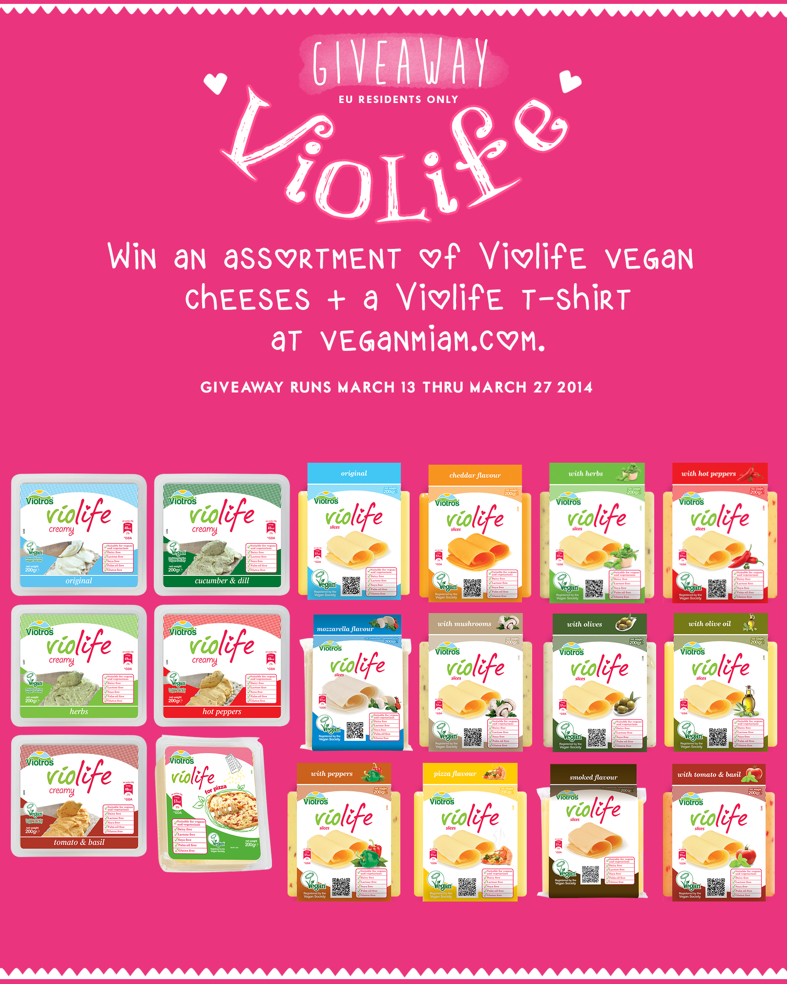 Violife Vegan Cheese Giveaway