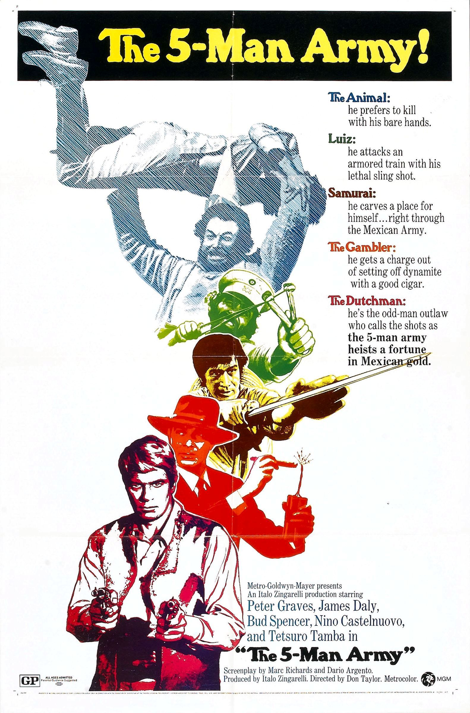 The 5-Man Army (1969)