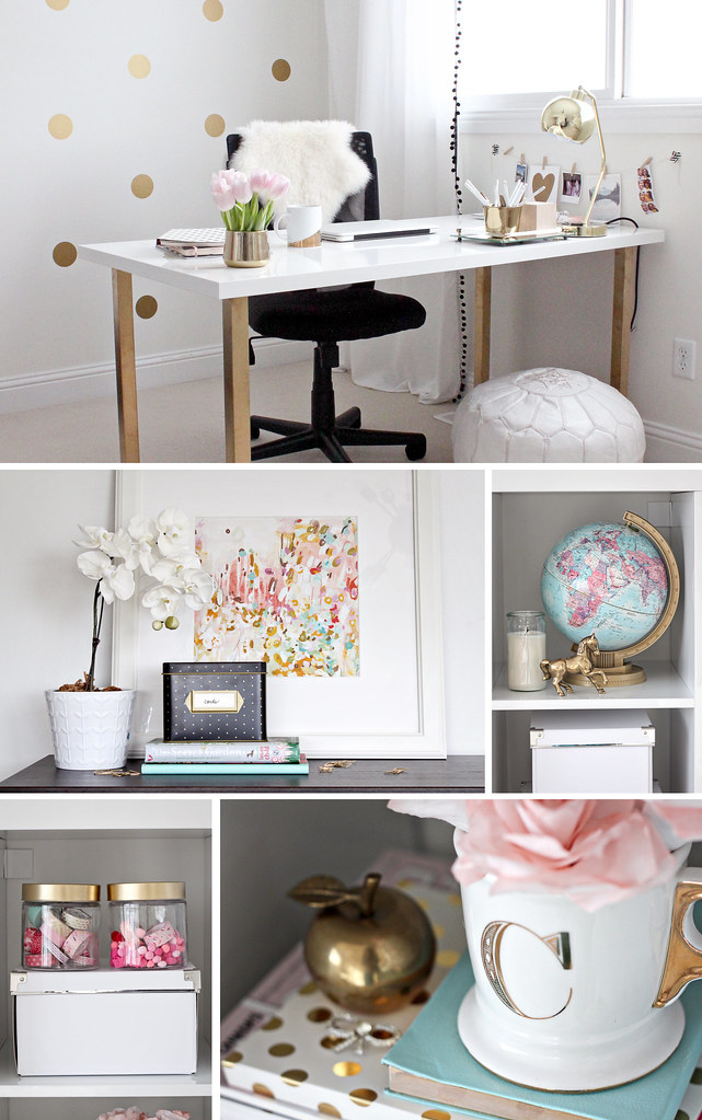 Just Bella Gold And Girly Home Office