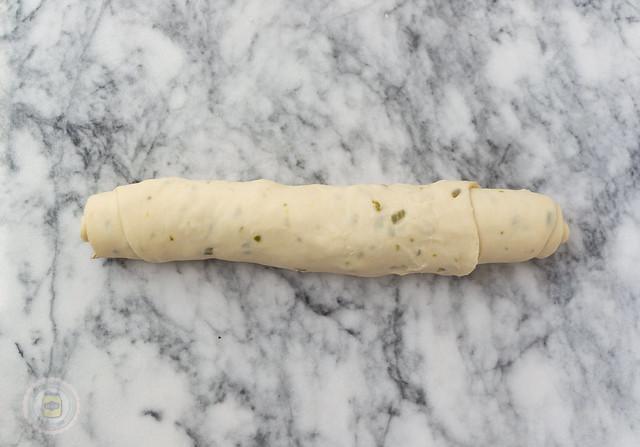 Jalapeno Parmesan Swirl Bread Rolls Dough Rolled